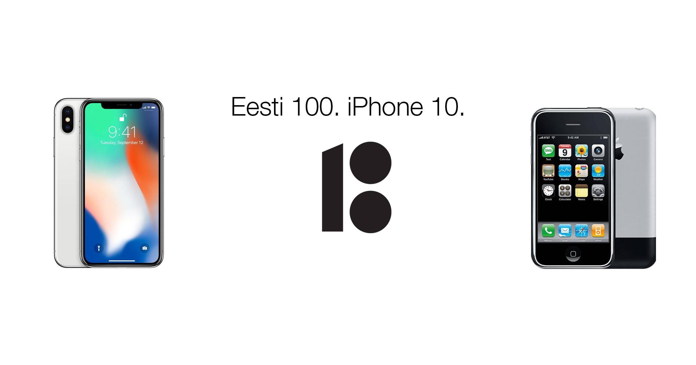 Mobipunkt iPhone Eestis esimene iphone eesti 100 iphone 10 iphone ajalugu apple